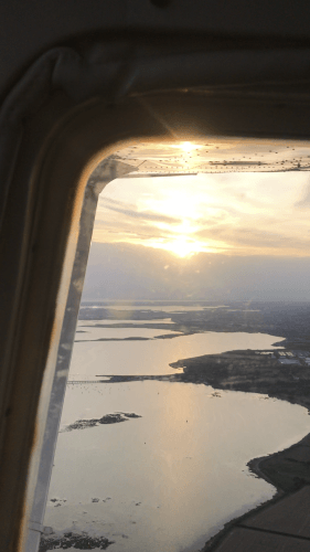 Champagne Sunset flight in Cessna 182