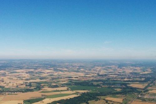 Vol promenade tour de ville du Mans et vallée de la Sarthe