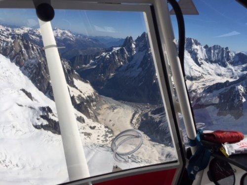 Survol des Alpes et du massif du Mont Blanc