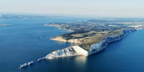 Isle of Wight Tour, flying over Portsmouth and Solent Forts