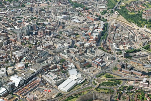 See the City of Sheffield from the Air