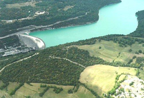 Vol découverte des lacs du Haut Jura - Barrage de Vouglans