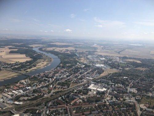 Rundflug über das schöne Magdeburg und das Umland (je nach Wunsch)