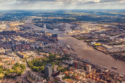 Hamburg und Umgebung aus der Luft