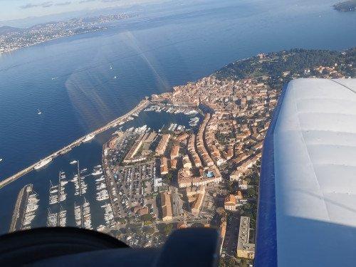 Balade en avion de Cannes à Porquerolles