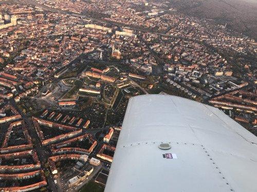 Rundflug und dabei eine Stunde in der Luft