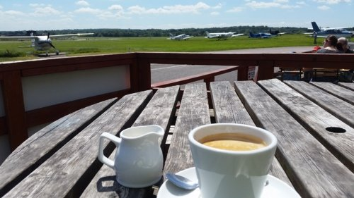 Cup of coffee at Redhill Aerodrome