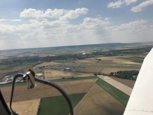 Visite aérienne de la région de la Champagne