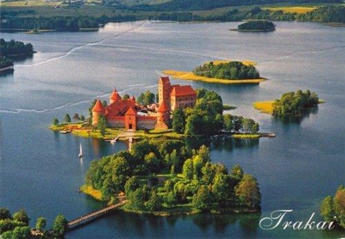 Trakai castle sightseeing flight!
