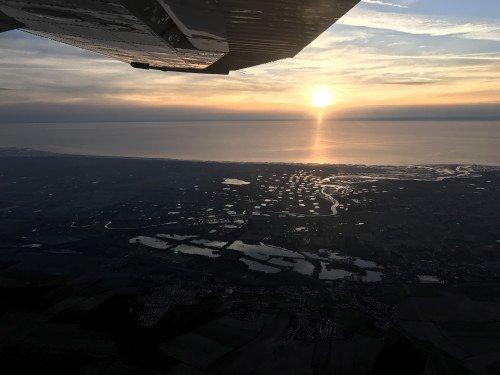 Visite aérienne de la Baie de Somme