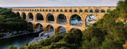 Le Pont du Gard vu d'en haut